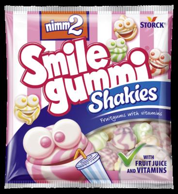 nimm2 Smilegummi Shakies - Ovocné želé s vitamíny a s odstředěným mlékem
