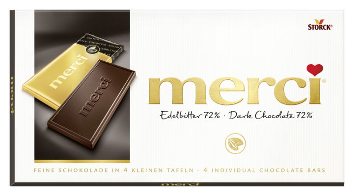 merci tabulková čokoláda extra hořká 72% - Hořká čokoláda/Jemná horká čokoláda