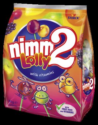 nimm2 Lolly - Směs ovocných dropsů s vitamíny