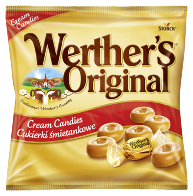 Werther's Original Cream Candies - Bonbóny se smetanou, cukrovinka