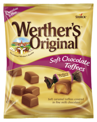 Werther's Original Soft Chocolate Toffees - Karamely v mléčné čokoládě (30 %)