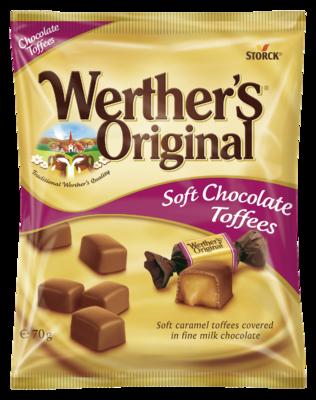 Werther's Original Soft Chocolate Toffees - Karamely v mléčné čokoládě (30 %)