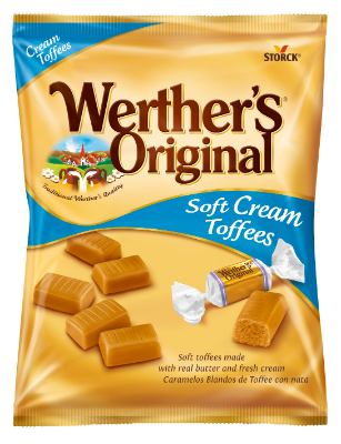 Werther´s Original Soft Cream Toffees - Měkké karamely se smetanou