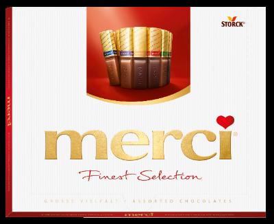 merci Finest Selection 250g chokoladespecialiteter - Fyldte og ikke fyldte chokoladespecialiteter.