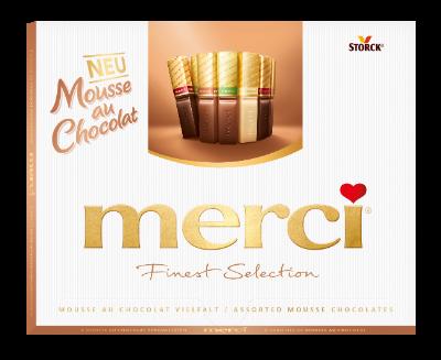 merci Finest Selection 210g Mousse au Chocolat - Chokoladespecialiteter med fyld af mousse (40%)