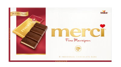 merci Tablets Marzipan - Mörk choklad/Mørk chokolade fylld med marsipan/marcipan (38%)
