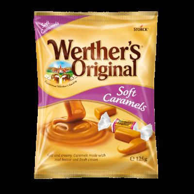 Werther's Original Soft Caramels - Mjuka/Bløde/Myke gräddkolor/flødekarameller