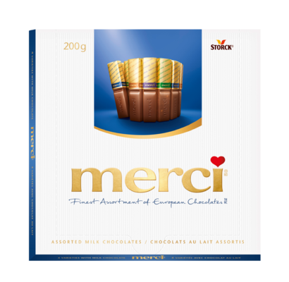 merci Milk Variety 200g - Filled and unfilled chocolate specialities.