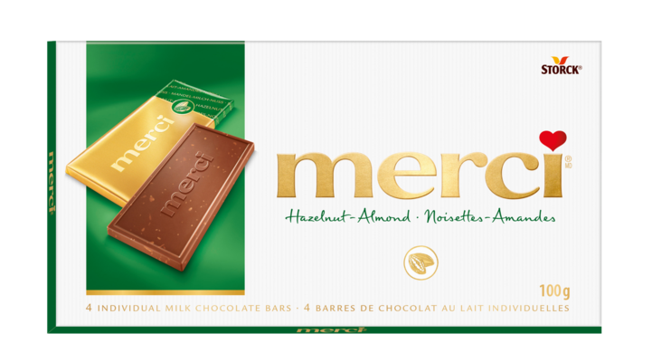 merci Chocolate Bars Hazelnut-Almond 100g - Hazelnut-Almond