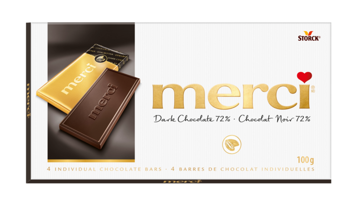merci Chocolate Bars Dark 72% 100g - Dark Chocolate 72%