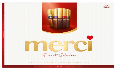 merci Great Variety 400g - Filled and unfilled speciality chocolates.