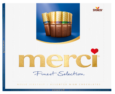 merci Milk Variety 250g - Filled and unfilled speciality chocolates.