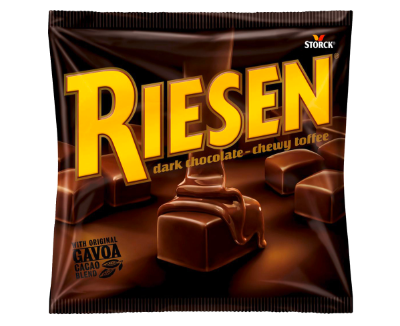 RIESEN 135g - Chocolate toffee in rich dark chocolate (30%)