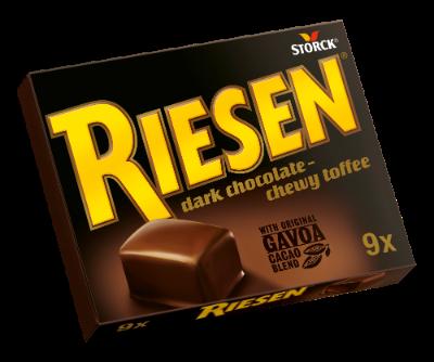 RIESEN 9x - Chocolate toffee in rich dark chocolate (30%)