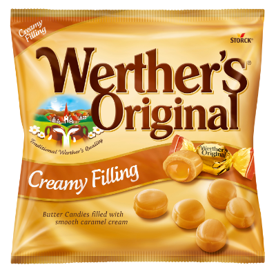 Werther's Original Creamy Filling - Butter Candies filled with Caramel Cream (24%)