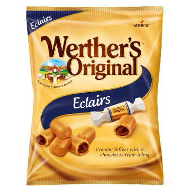Werther's Original Eclairs - Creamy Toffees with a Chocolate Cream Filling (25%)