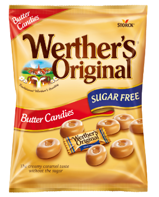 Werther's Original Sugar Free Butter Candies - Butter Candies with sweeteners