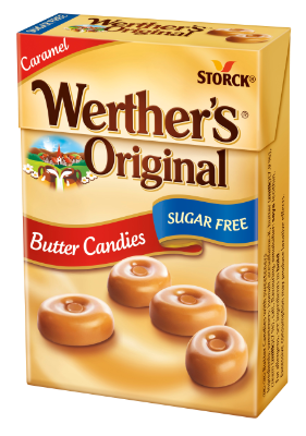 Werther's Original Sugar Free Butter Candies Flip Top Box - Butter Candies with sweeteners