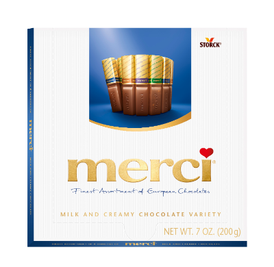 merci Assorted Milk and Creamy Chocolates Variety 7oz -
