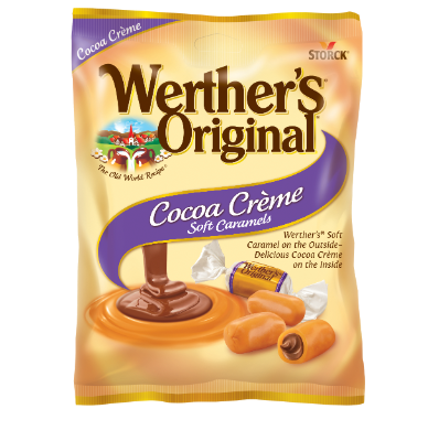 Werther's Original Cocoa Crème Soft Caramels - A Soft and Creamy Caramel made with Real Butter and Fresh Cream