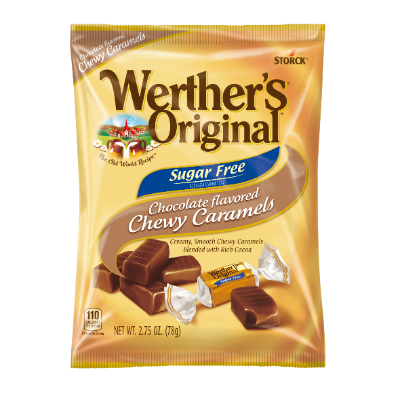 Werther's Original Sugar Free Chocolate Chewy Caramels -