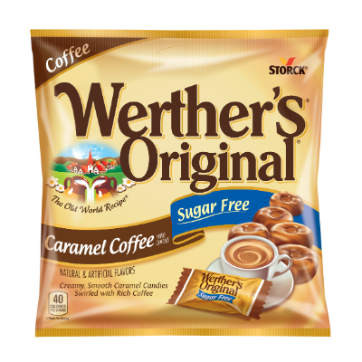 Werther's Original Caramel Coffee Hard Candies Sugar Free -