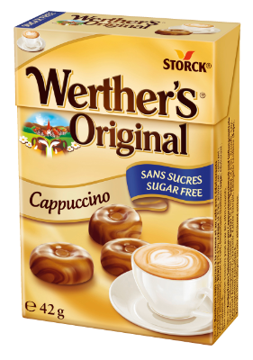 Werther's Original Suikervrij Cappuccino - Suikervrije roomsnoepjes met koffiesmaak en zoetstoffen