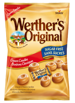 Werther's Original Klassieke Roomsnoepjes suikervrij - Suikervrije roomsnoepjes met zoetstoffen
