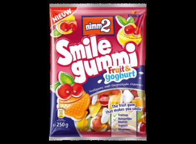 nimm2 Smilegummi Fruit & Yoghurt - Fruitgum met toegevoegde vitamines