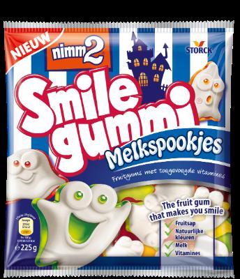nimm2 Smilegummi Melkspookjes - Fruitgum met toegevoegde vitamines
