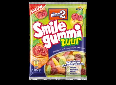 nimm2 Smilegummi Zuur - Zure fruitgum met toegevoegde vitamines