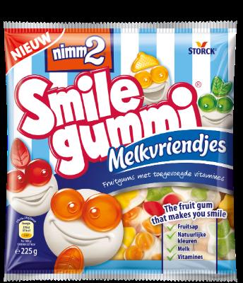 nimm2 Smilegummi Melkvriendjes - Fruitgum met toegevoegde vitamines