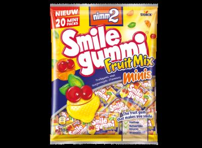 nimm2 Smilegummi Fruitmix minis - Fruitgum met toegevoegde vitamines