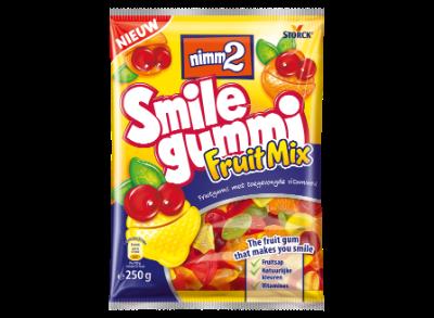 nimm2 Smilegummi Fruitmix - Fruitgum met toegevoegde vitamines