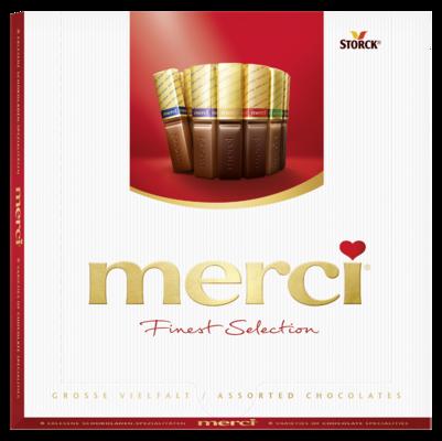 merci Finest Selection assorti 200g - Gevulde en niet-gevulde chocoladespecialiteiten.