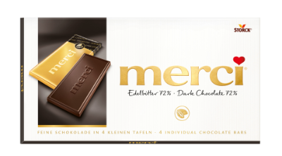 merci tablet Puur 72% - Pure chocolade
