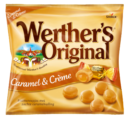 Werther's Original Caramel & Crème - Roomsnoepjes met caramelvulling (24%)