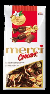 merci Crocant - Le croquant croustillant enrobé de délicieux chocolat au lait entier