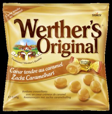 Werther's Original Coeur Tendre au Caramel - Bonbons au beurre et à la crème fourrés de caramel crémeux (24 %)
