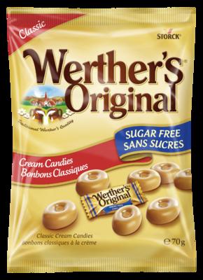 Werther's Original Bonbons Classiques sans sucres - Bonbons sans sucres à la crème avec édulcorants.