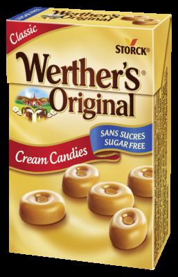 Werther's Original Sans Sucres classic - Bonbons sans sucres à la crème avec édulcorants