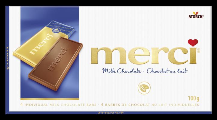 merci Barres de Chocolat au Lait 100g - Chocolat au lait