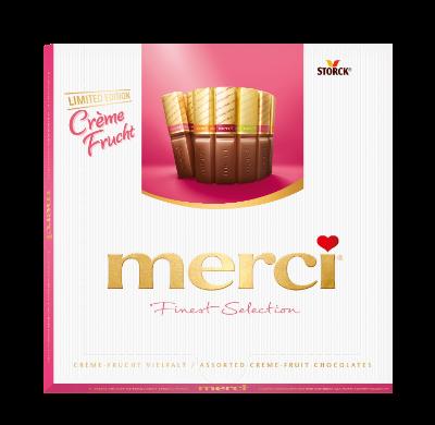 merci Crème-Frucht Vielfalt 200g - Spécialités de chocolats fourrés, au goût de fruits