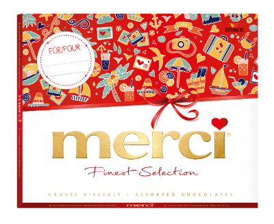 merci Grande Sélection 250g été - Spécialités de chocolats fourrés et non-fourrés.