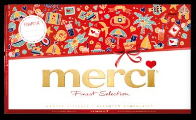 merci Grande Sélection 400g été - Spécialités de chocolat fourrés et non-fourrés.