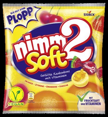 nimm2 soft - Tendres bonbons fourrés et fruités, avec des vitamines