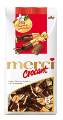 merci Crocant - Krokant-Pralinen mit zarter Vollmilchschokolade
