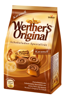 Werther's Original Karamell - Vollmilchschokolade mit Karamellfüllung (45 %)