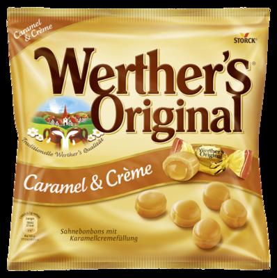 Werther's Original Caramel & Crème - Sahnebonbons mit Karamellcremefüllung (24%)