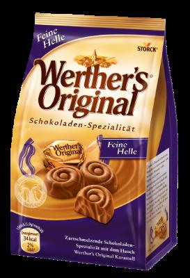 Werther's Original Feine Helle - Edel-Sahneschokolade mit einem Swirl von Karamell-Konfekt (25%)